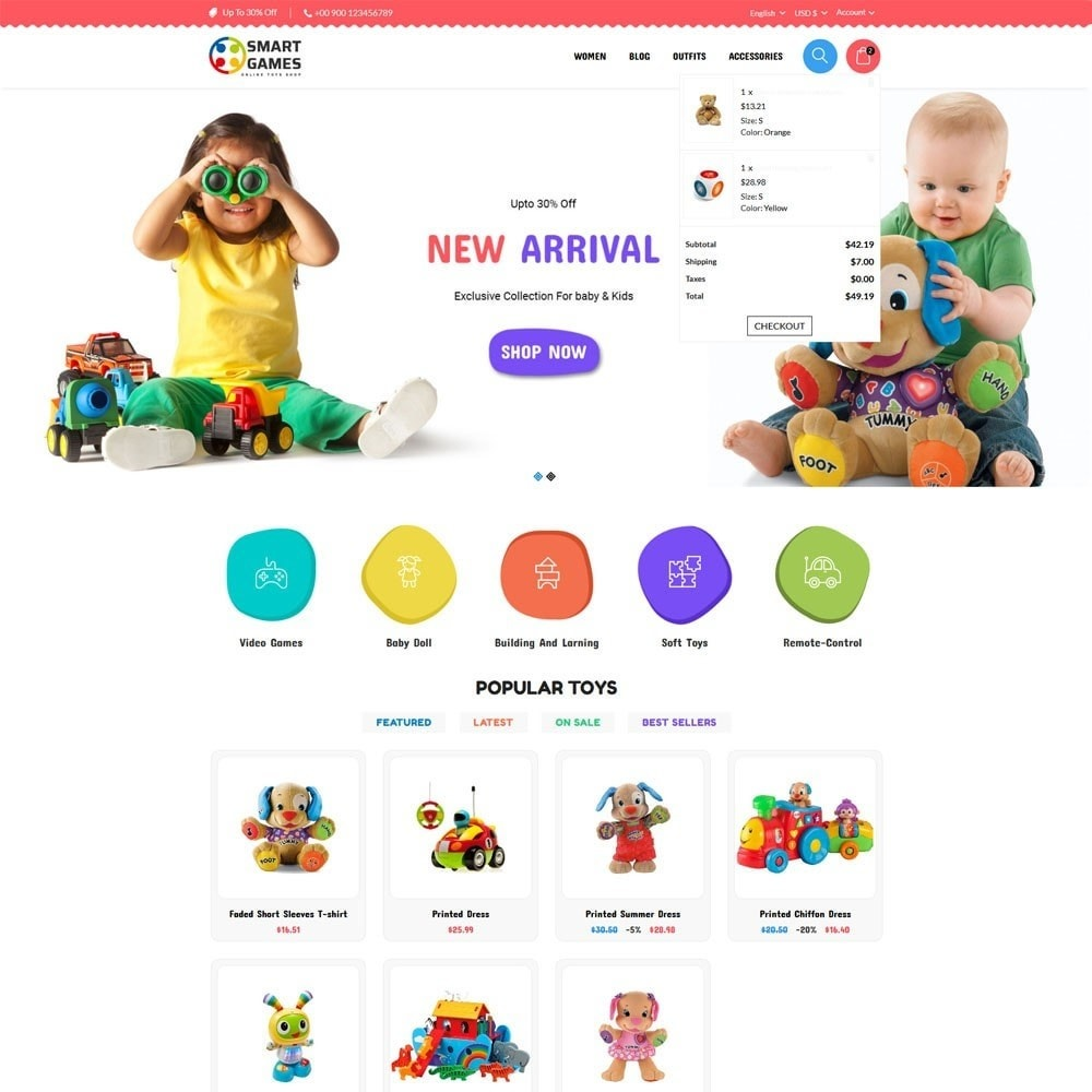 theme - Kinderen & Speelgoed - Smart Games Toy Store - 3