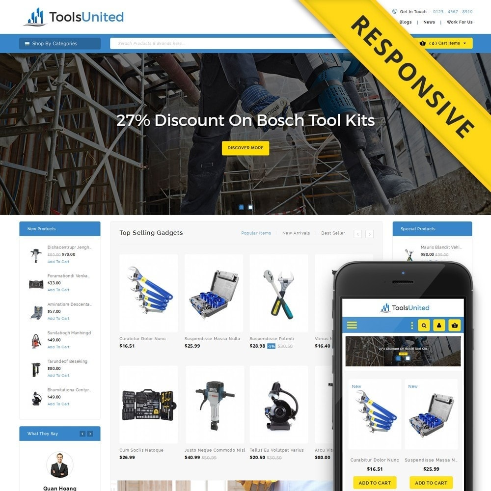 theme - Automotive & Cars - Tools United Store - 1