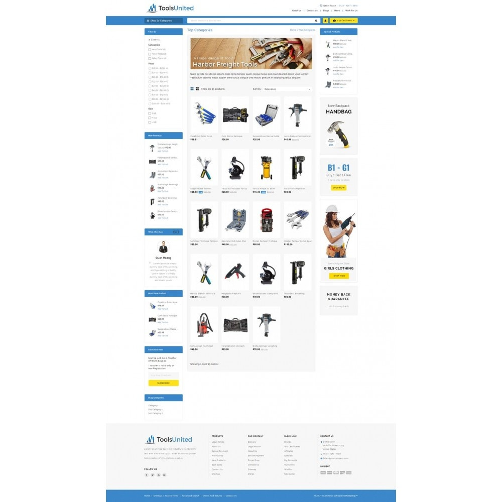 theme - Automotive & Cars - Tools United Store - 3