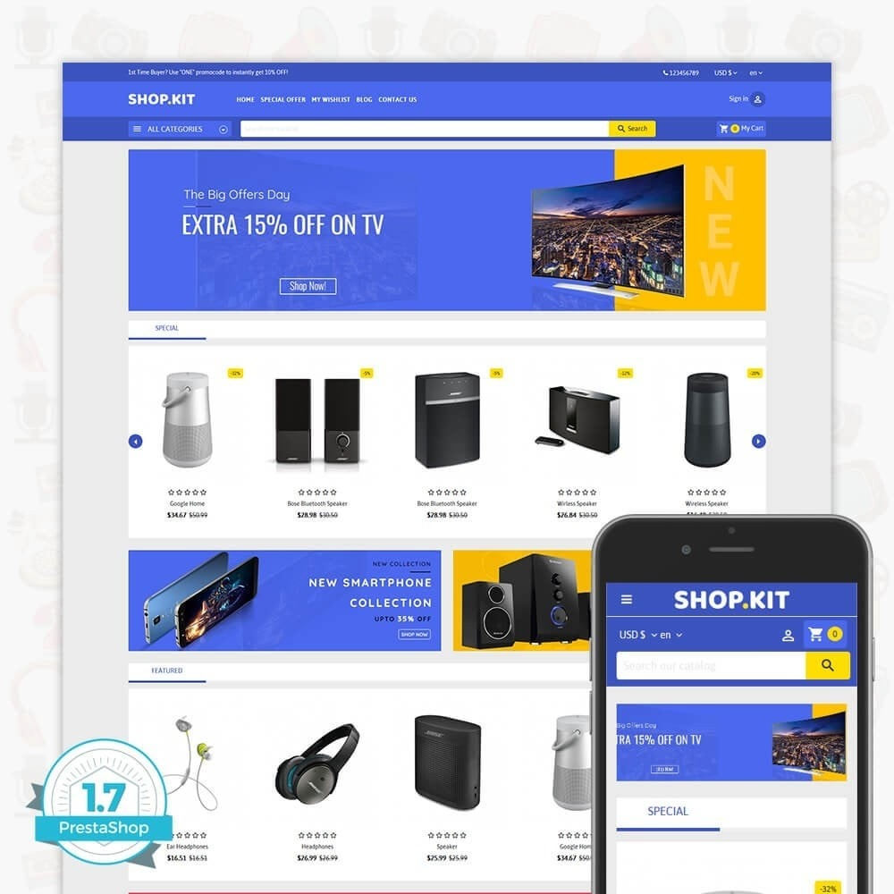 theme - Elektronica & High Tech - Shopkit Multistore - 1