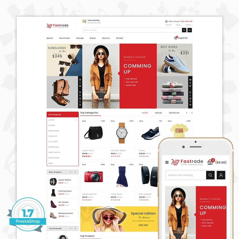 theme - Electronics & Computers - Fastrade - Online Shopping Trade - 1