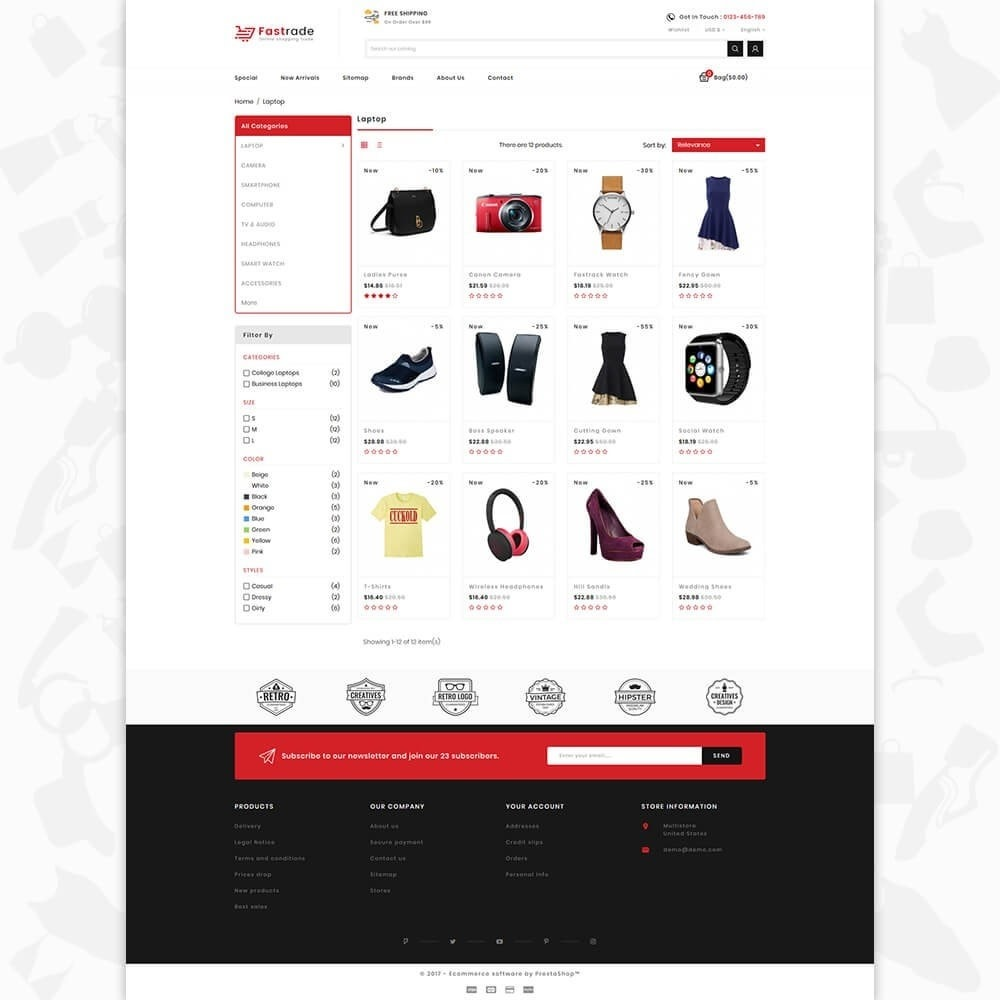 theme - Electronics & Computers - Fastrade - Online Shopping Trade - 3