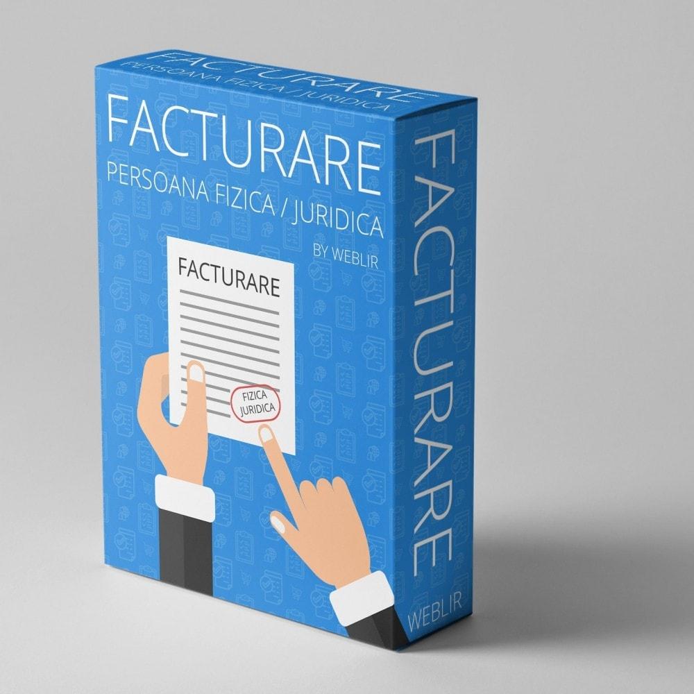 module - Boekhouding en fakturatie - Facturare - Persoana Fizica sau Juridica - 1