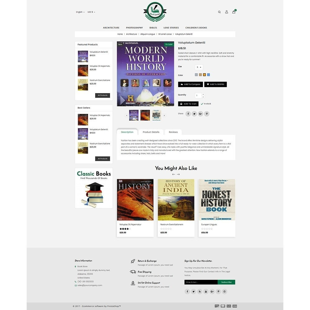 theme - Art & Culture - BookLovers Store - 5