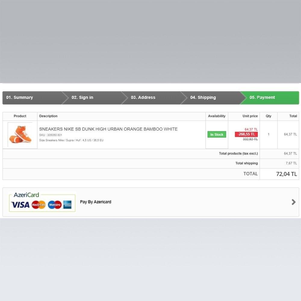 module - Pagamento con Carta di Credito o Wallet - AzeriCard Payment Gateway | AzeriCard ONLINE ÖDƏMƏ - 6