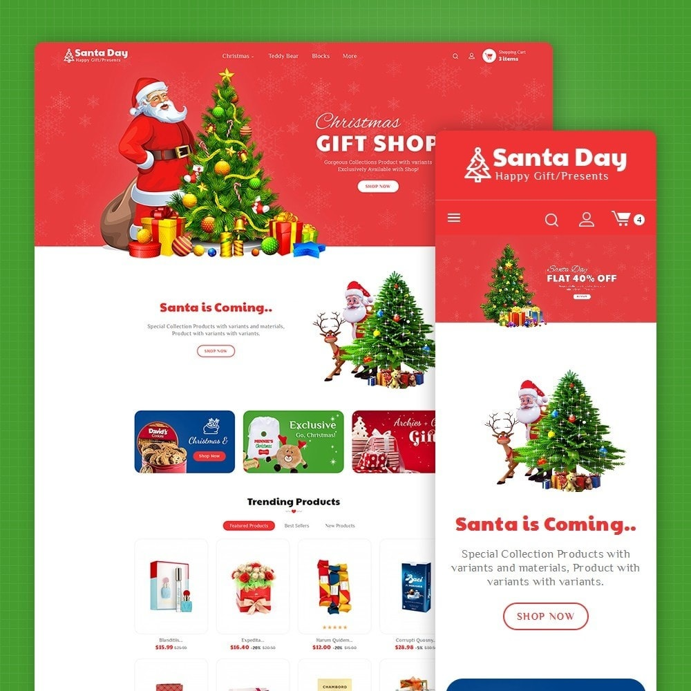 theme - Gifts, Flowers & Celebrations - Santa Gift Store - 1