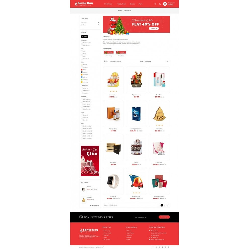 theme - Gifts, Flowers & Celebrations - Santa Gift Store - 3
