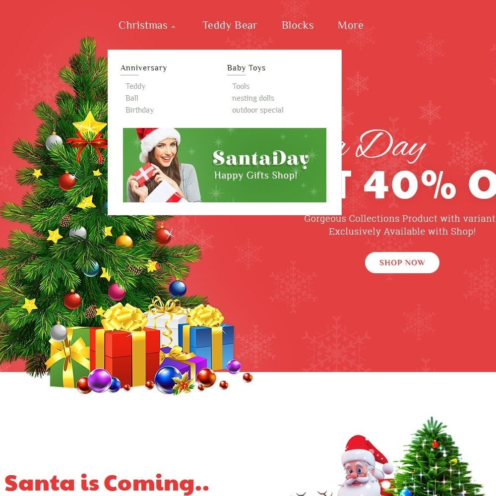 theme - Gifts, Flowers & Celebrations - Santa Gift Store - 8