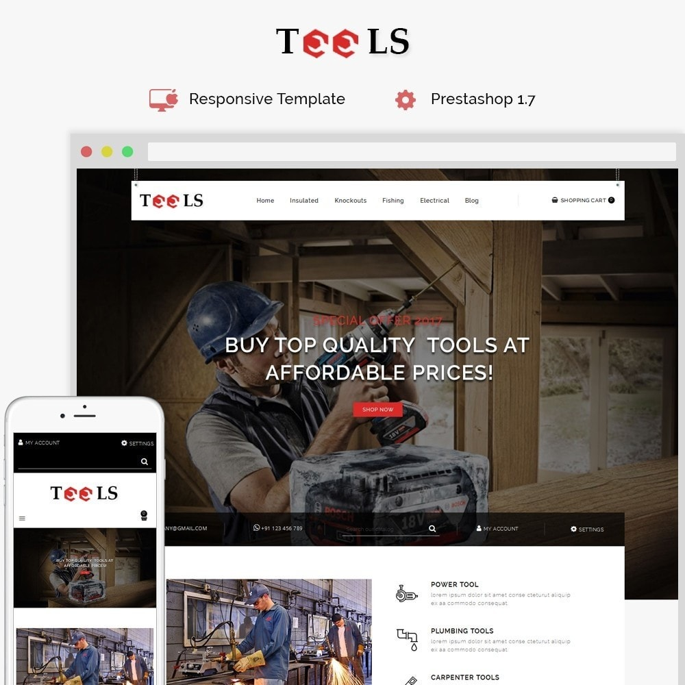 theme - Elektronica & High Tech - Tools Store - 1