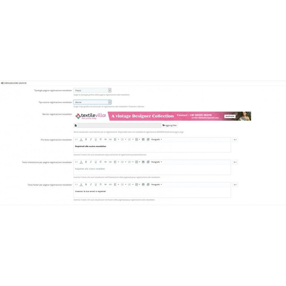 module - Newsletter & SMS - Argomenti Newsletter Personalizzati - 4