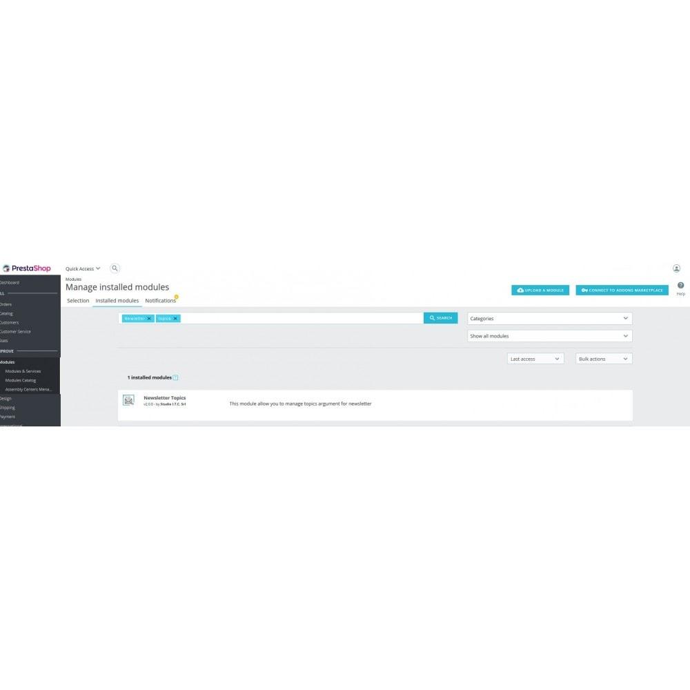 module - Newsletter & SMS - Custom Newsletter Topics - 1