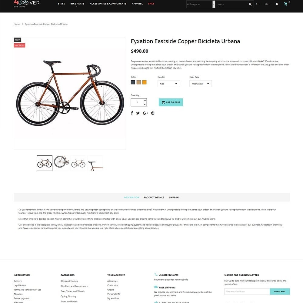 theme - Sports, Activities & Travel - 4Rover - Bike Store - 3