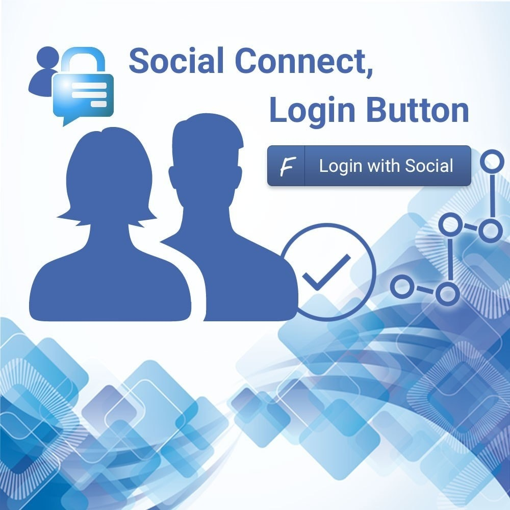 module - Social Login & Connect - Social connect. Login button. - 1