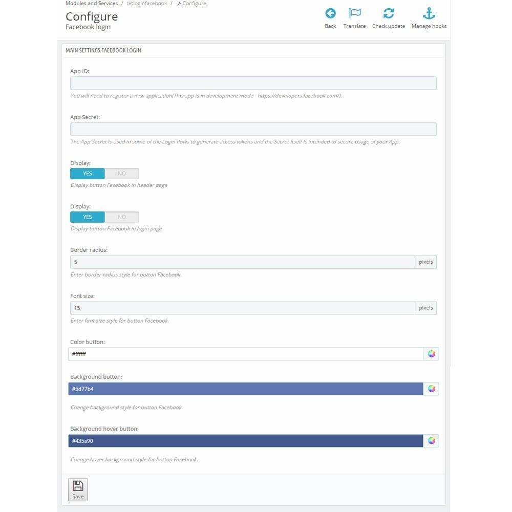 module - Login/Connessione - Social Login Button - 6