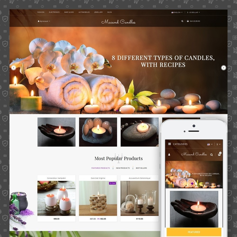 theme - Regali, Fiori & Feste - Macand Candles Store - 1