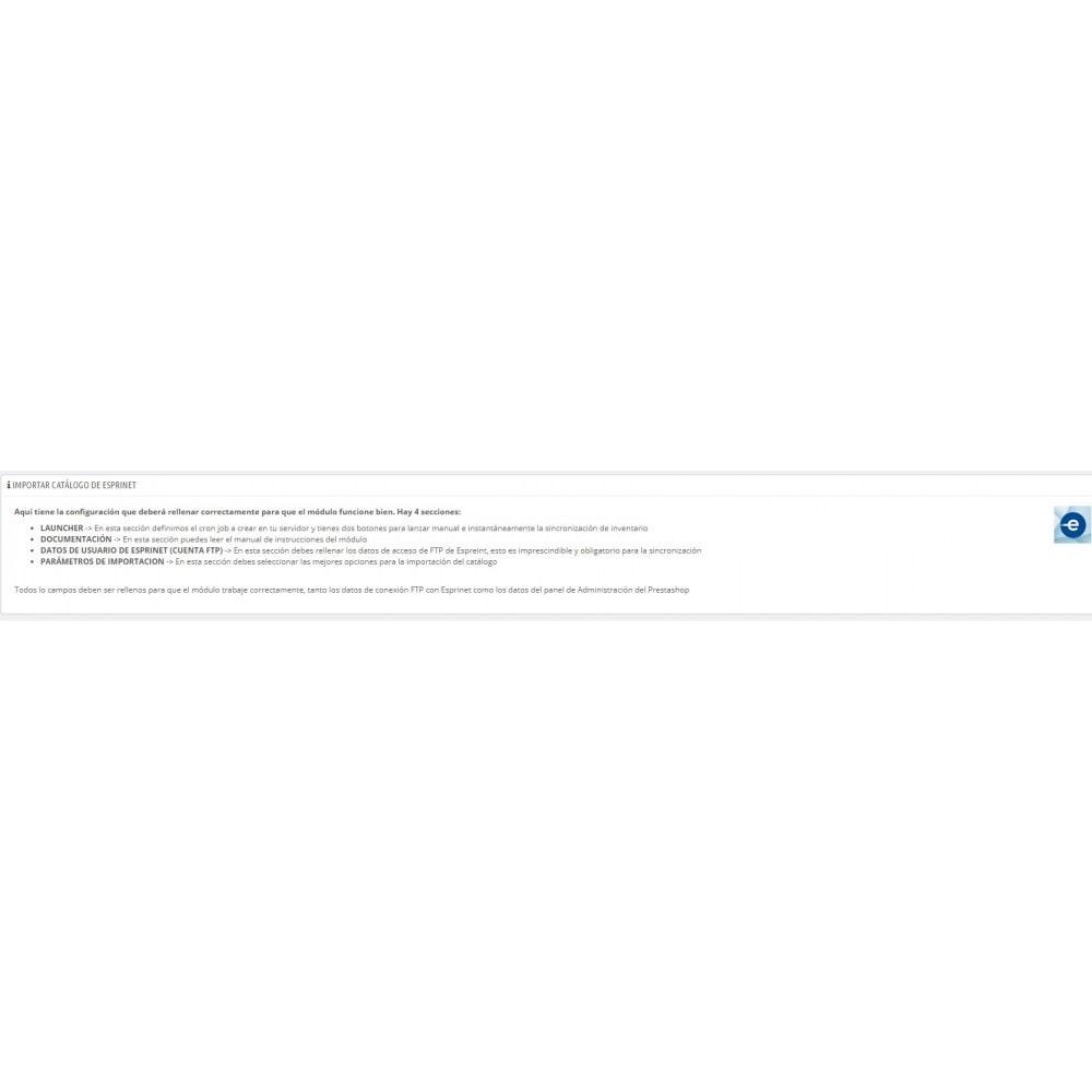 module - Importación y Exportación de datos - Importar catálogo de Esprinet - 1