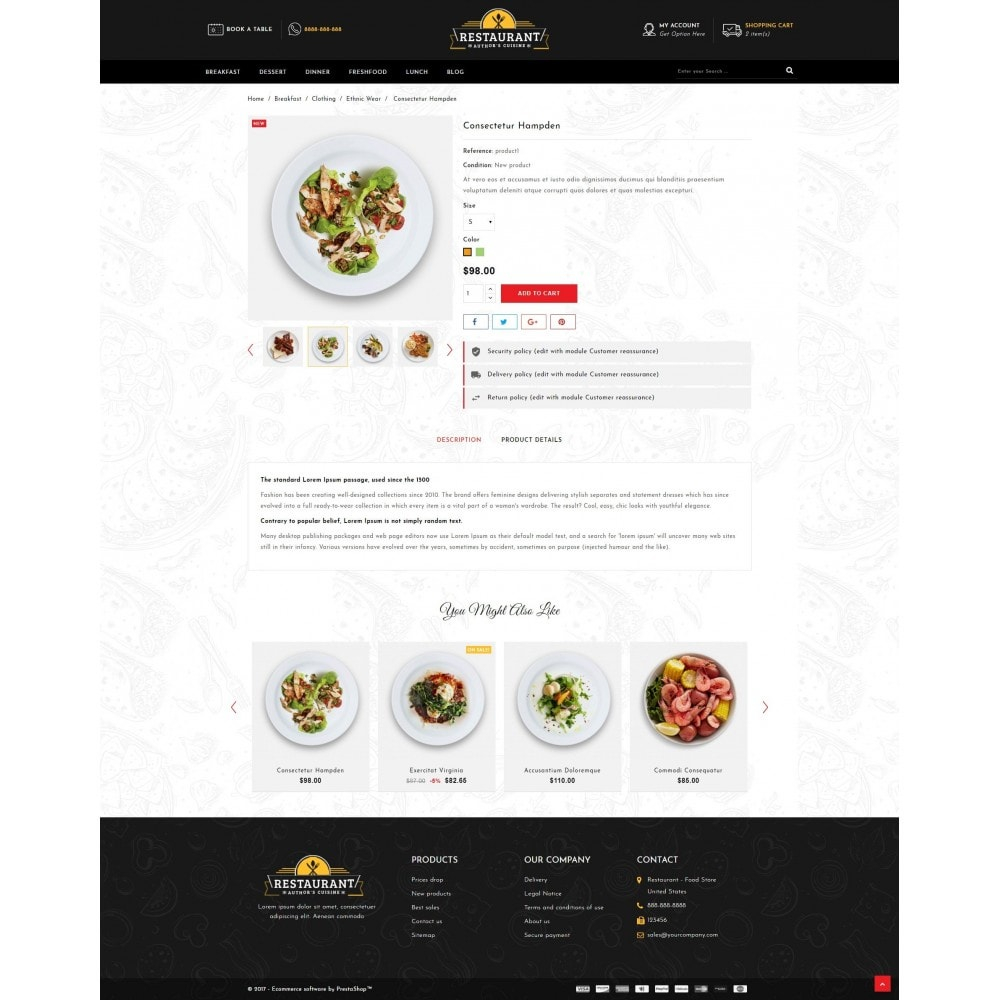 theme - Alimentation & Restauration - Restaurant Food Store - 5