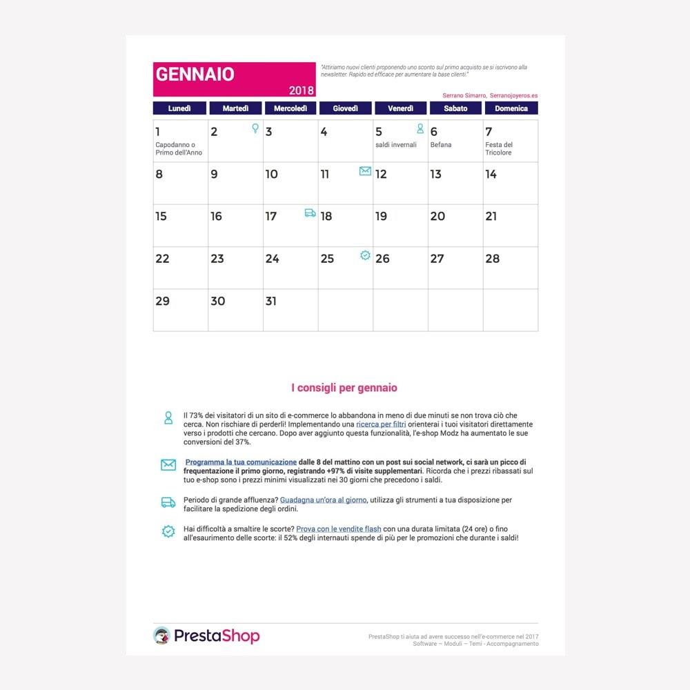 other - Kalender e-commerce - Italian 2018 eCommerce Calendar - 2