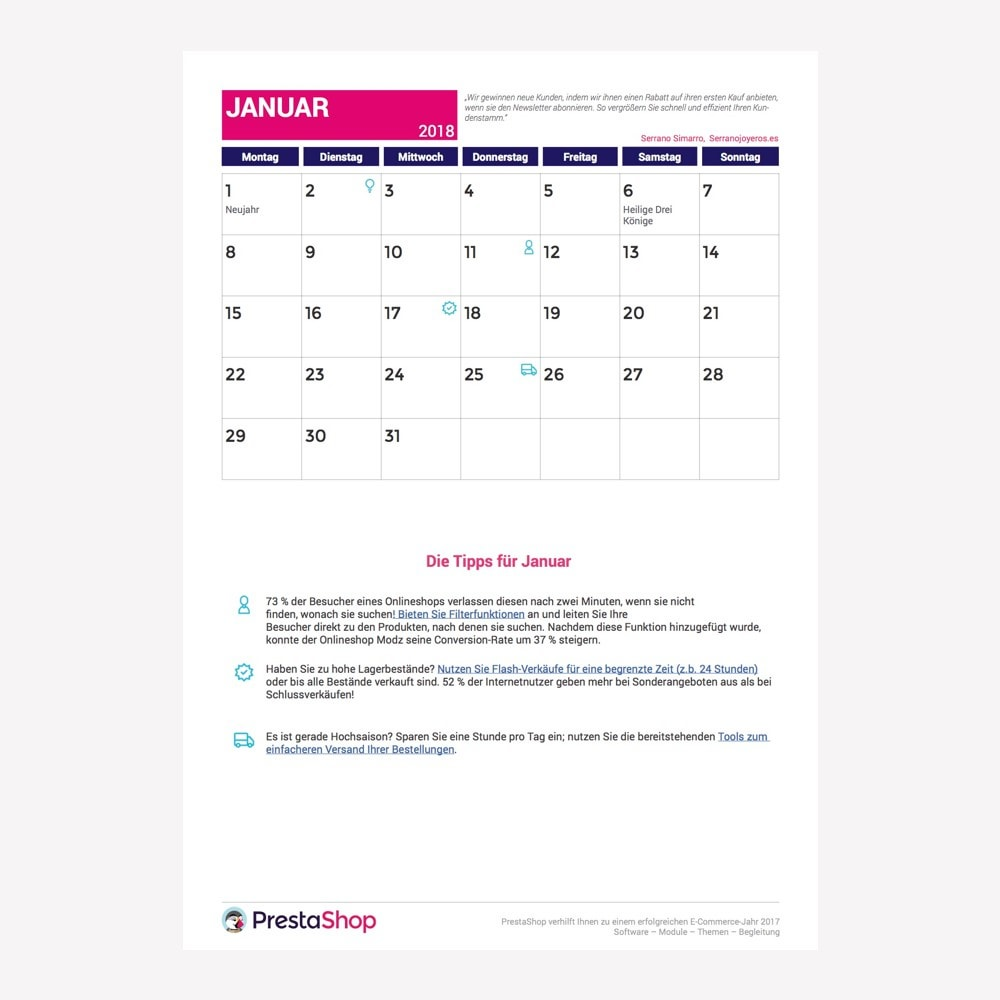 other - Kalendarz e-commerce - Germany 2018 eCommerce Calendar - 2