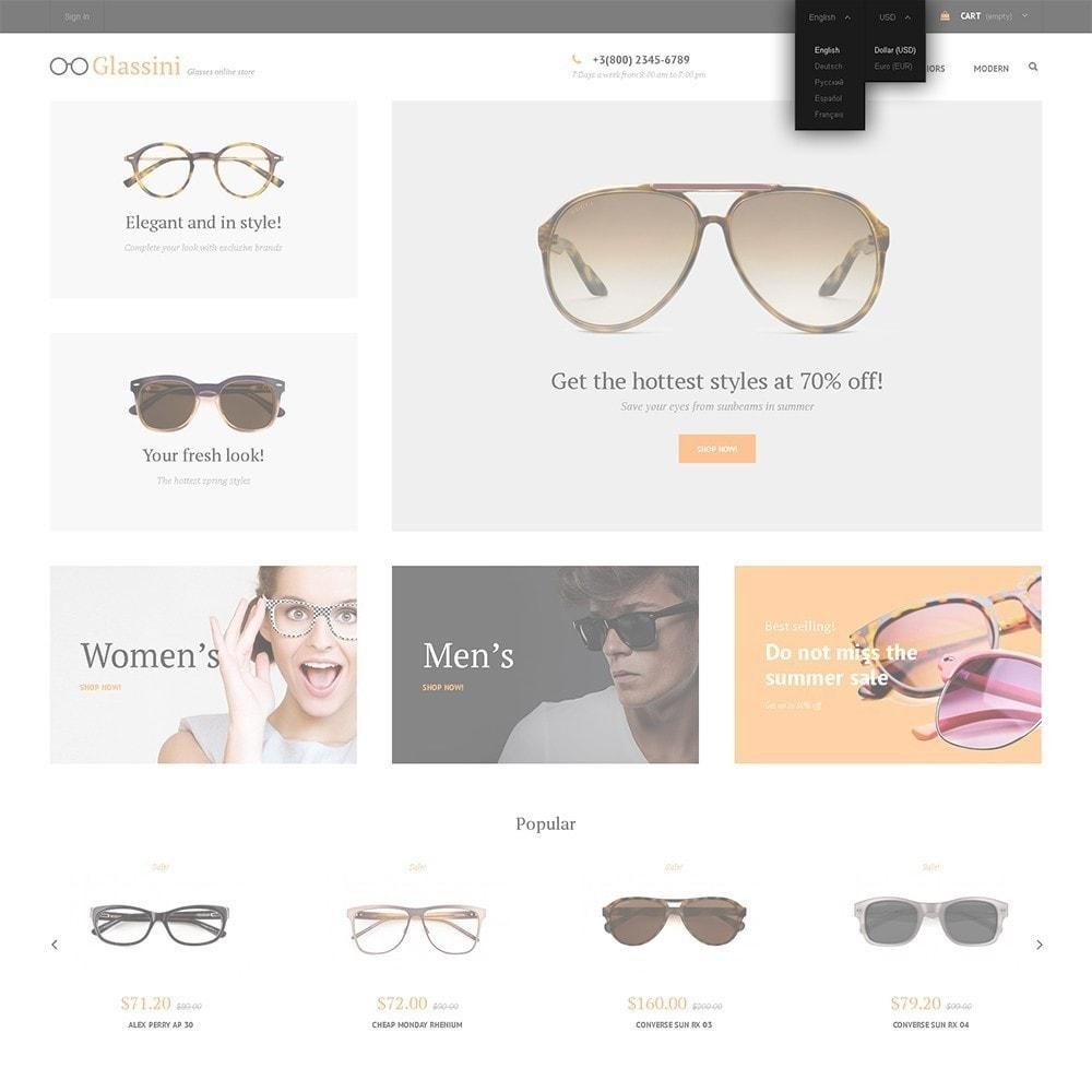 theme - Moda & Calzature - Glassini - per Un Sito di Occhiali da Vista - 6