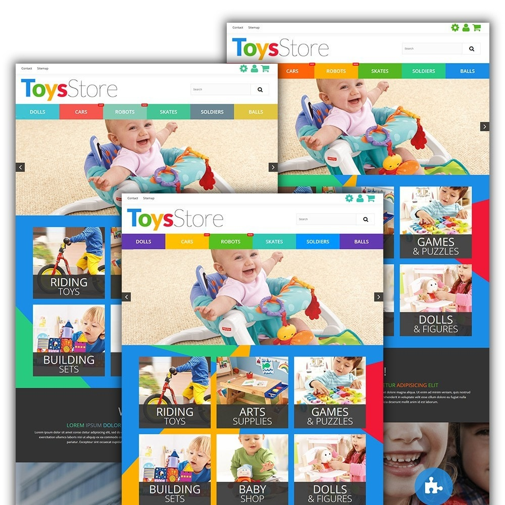 theme - Bambini & Giocattoli - Toys Store - per Un Sito di Negozio di Giocattoli - 3