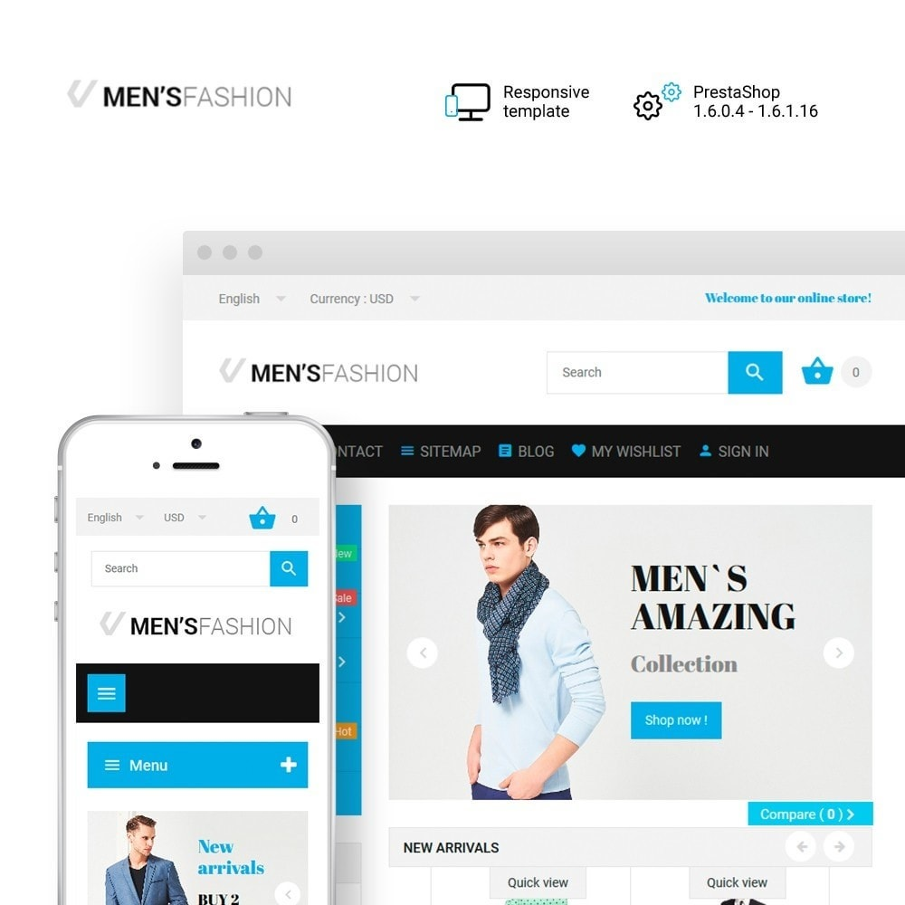 theme - Moda & Calçados - Men's Fashion - Fashion Store Template - 1