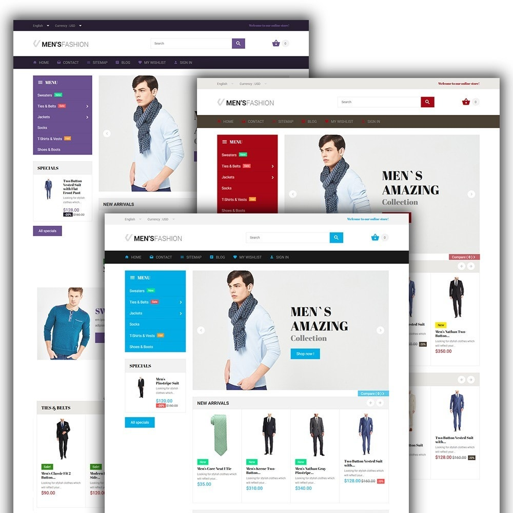 theme - Moda & Calçados - Men's Fashion - Fashion Store Template - 2