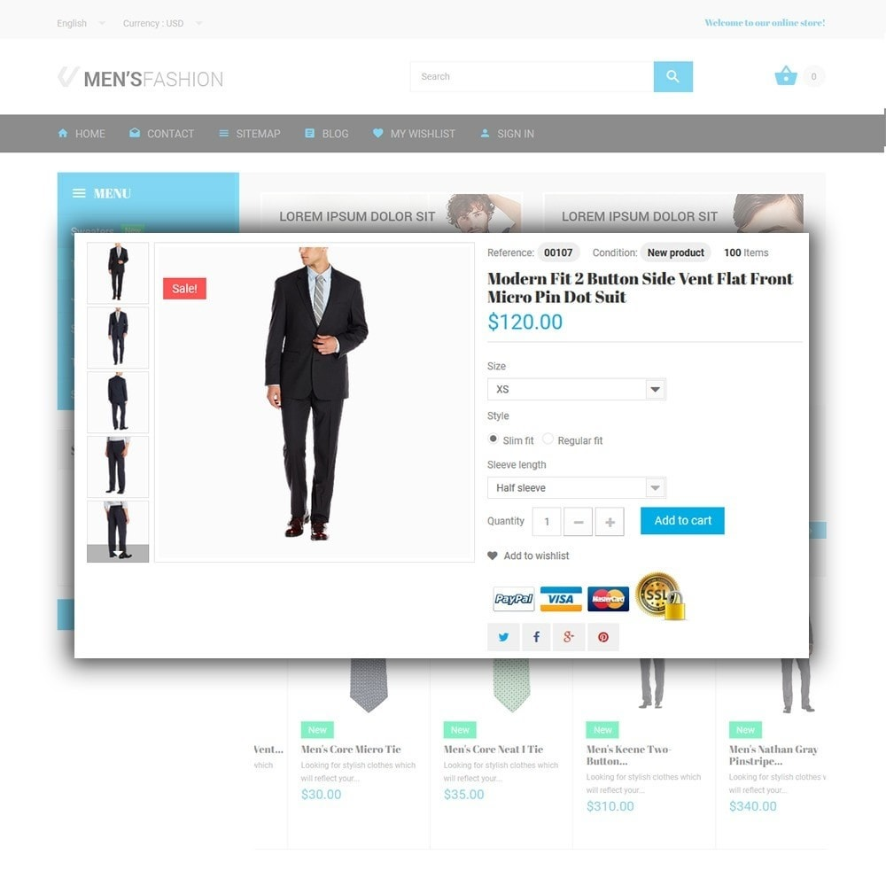 theme - Moda & Calçados - Men's Fashion - Fashion Store Template - 4