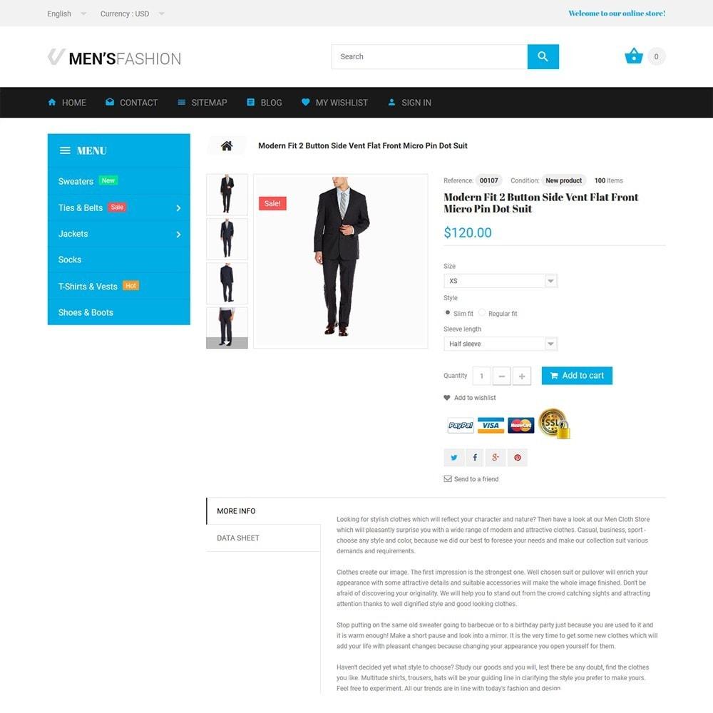 theme - Moda y Calzado - Men's Fashion - para Sitio de Tienda de Ropa - 3