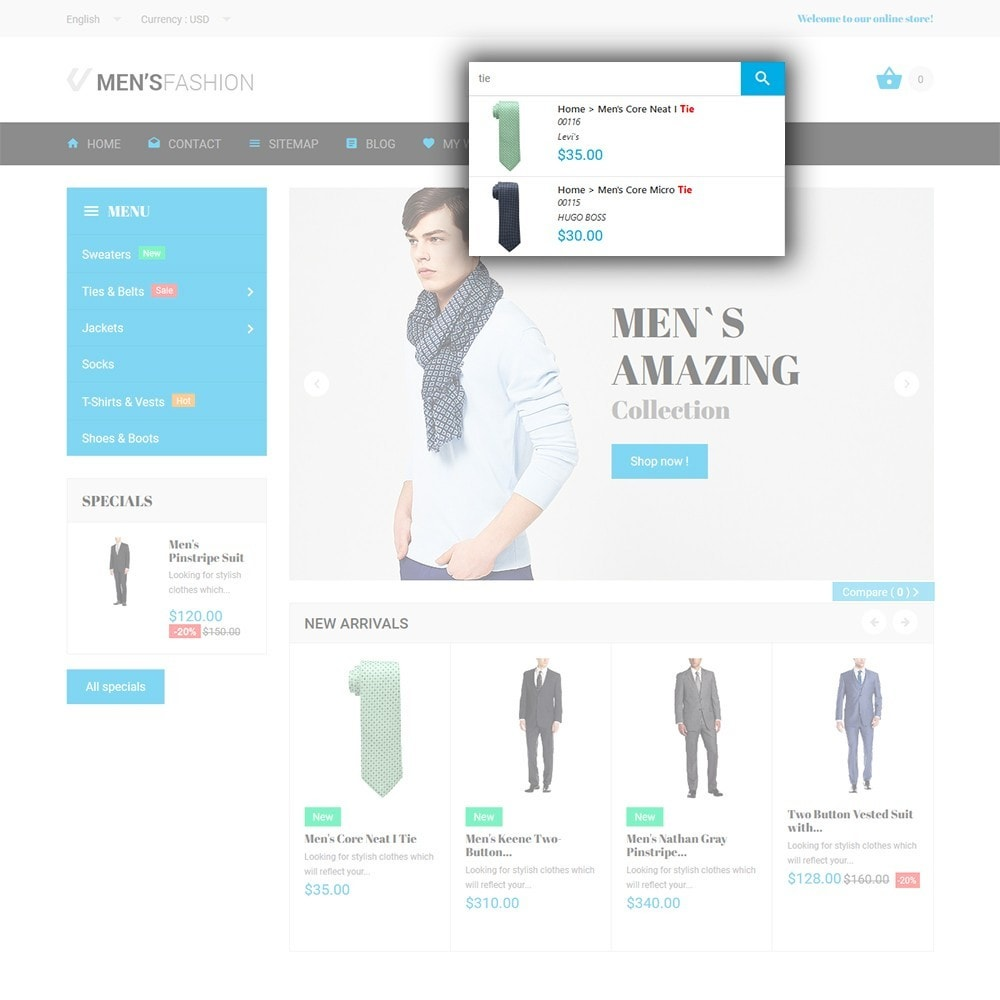 theme - Мода и обувь - Men's Fashion - шаблон на тему мужская мода - 6