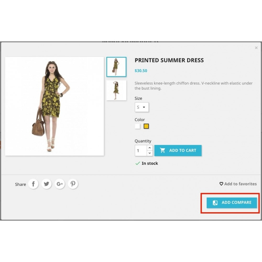 module - Comparateurs de prix - Add to compare products (from Basket/Cart UpSale) - 2
