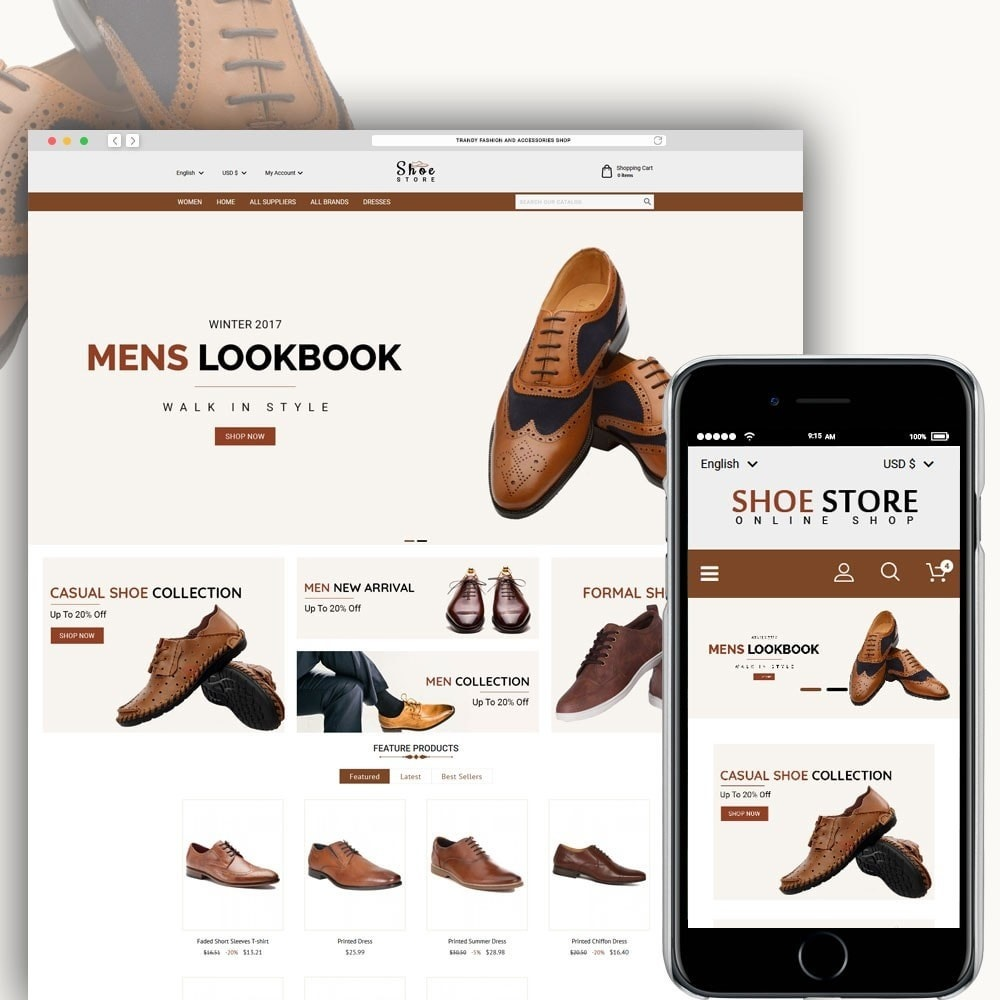 theme - Mode & Chaussures - Shoe Store - 1
