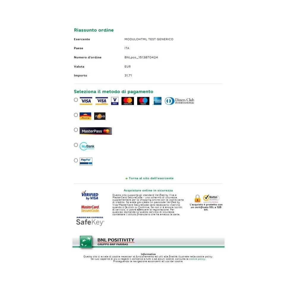 module - Pagamento con Carta di Credito o Wallet - Pagamento BNL Positivity - 6