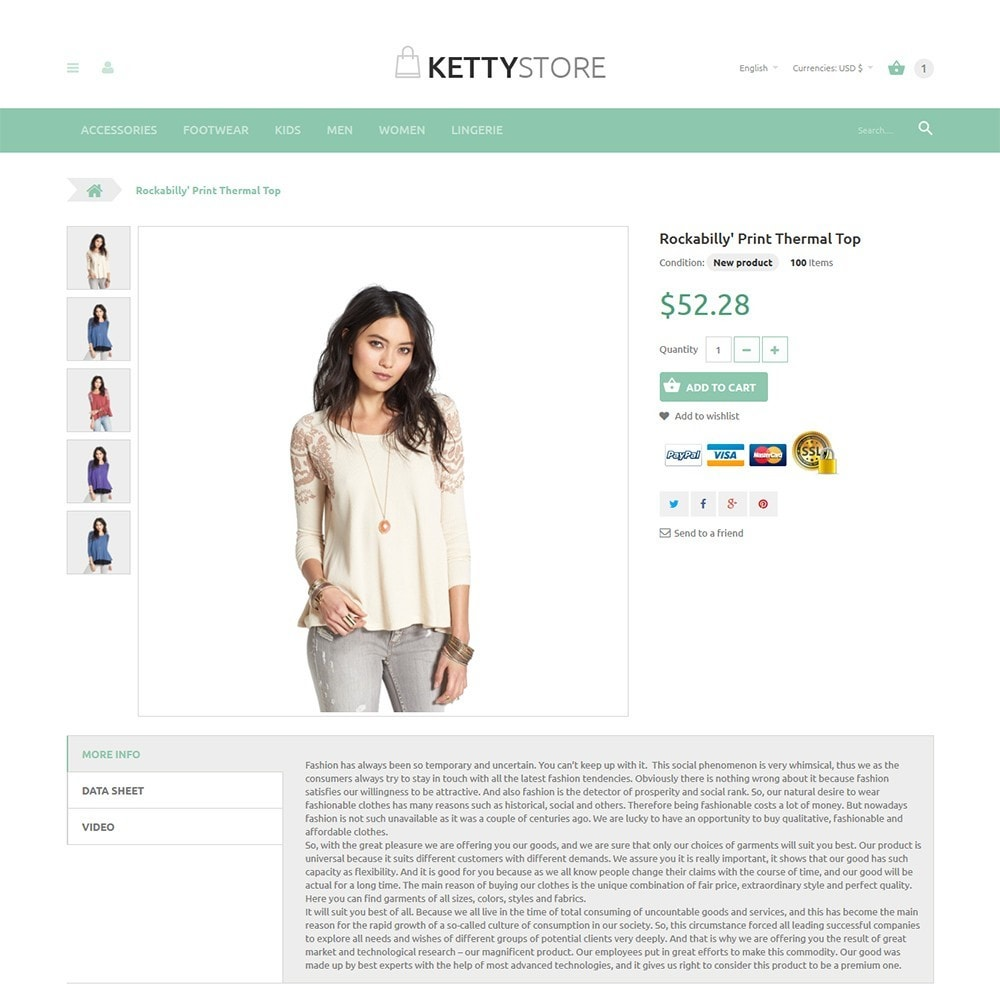 theme - Mode & Schuhe - KettyStore - 2