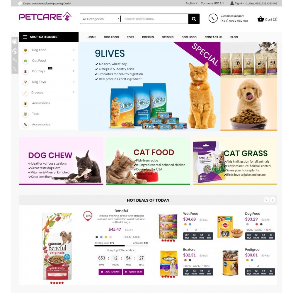 theme - Animals & Pets - Animals & Pets Care Store - 2