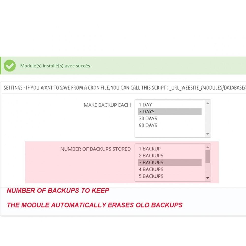 module - Migração de Dados & Registro - DATABASE AUTO BACKUP - 2