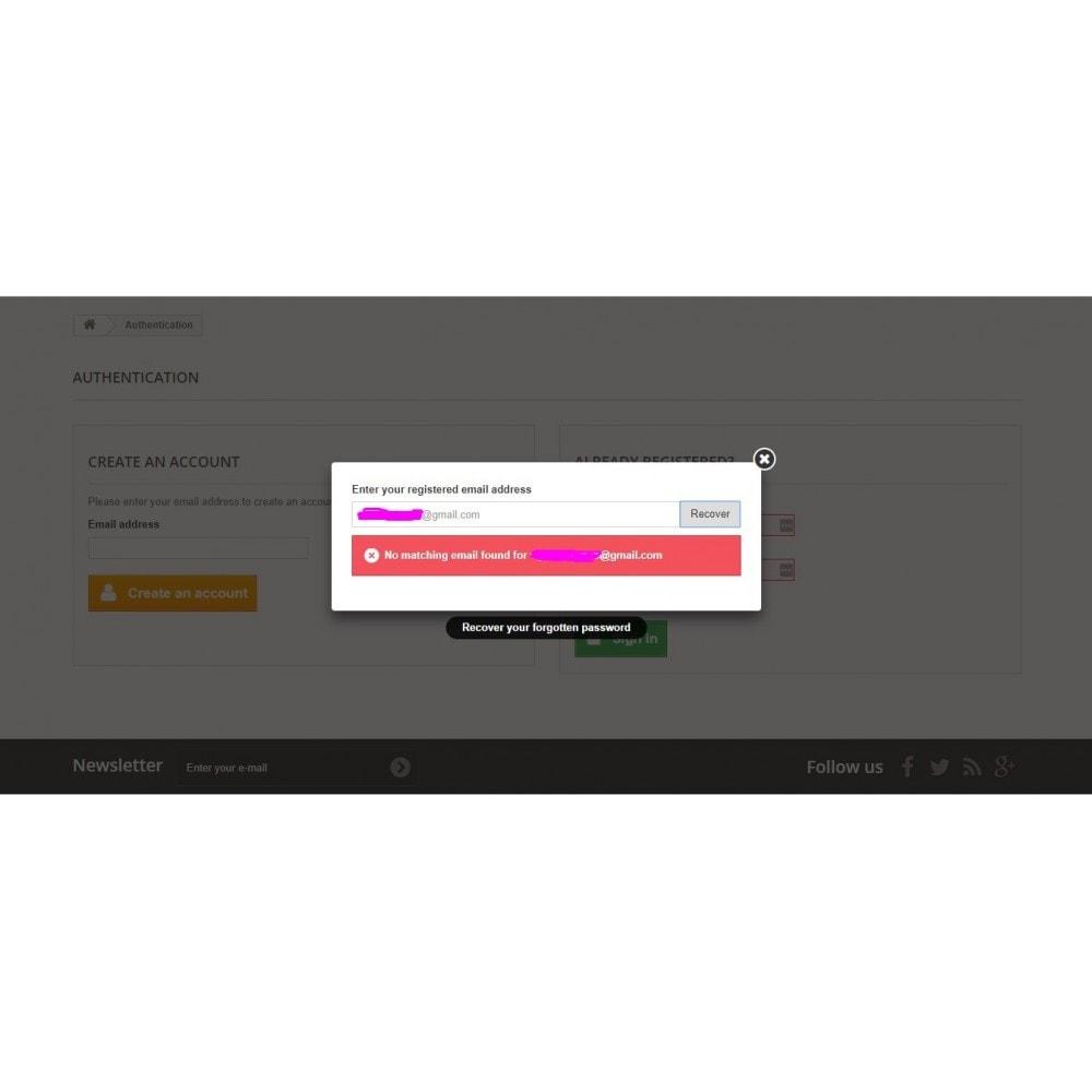 module - Sicherheit & Brechtigungen - Simple Password Reset - 2