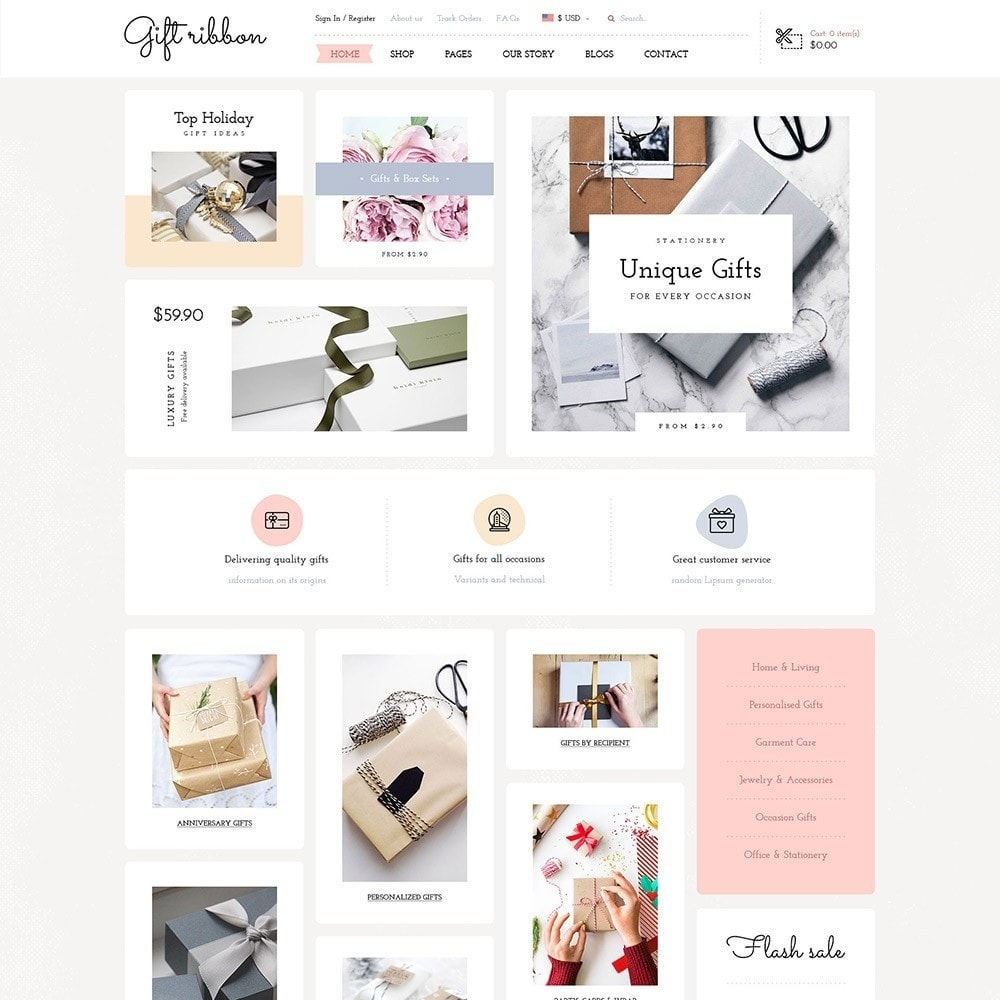 theme - Подарки, Цветы и праздничные товары - Pts Giftribbon - 6