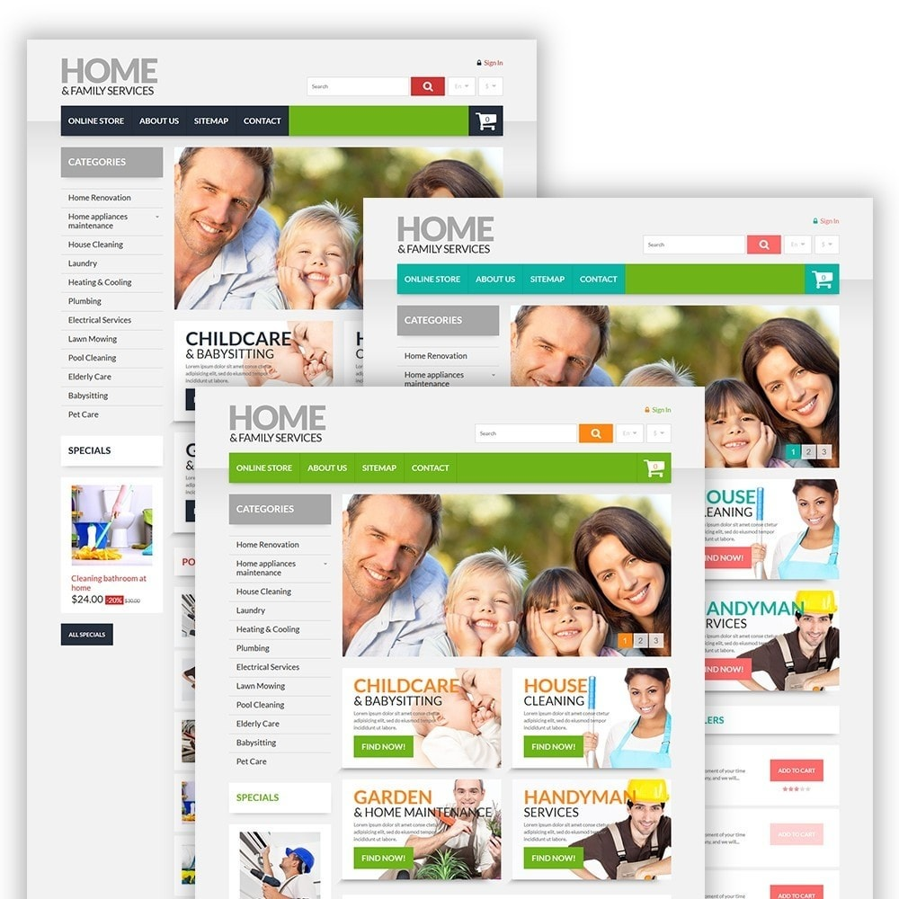 theme - Дом и сад - Home & Family Services - 2