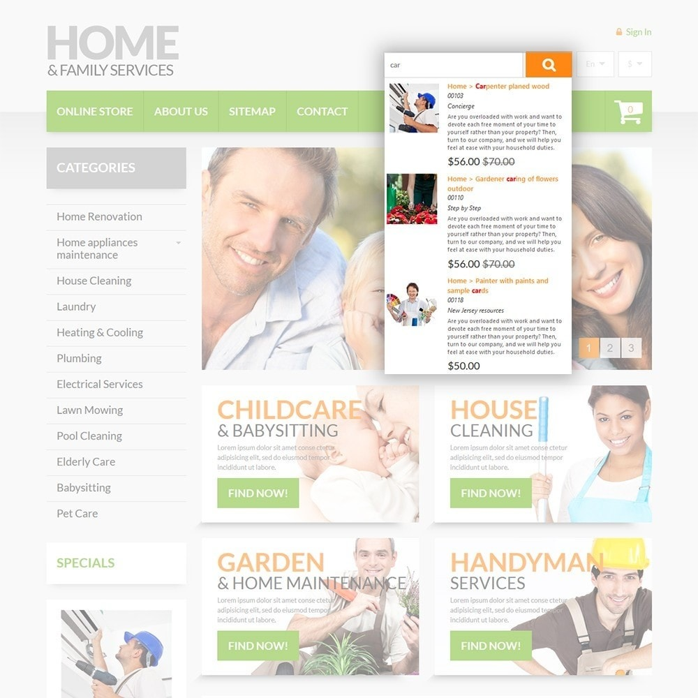 theme - Дом и сад - Home & Family Services - 6