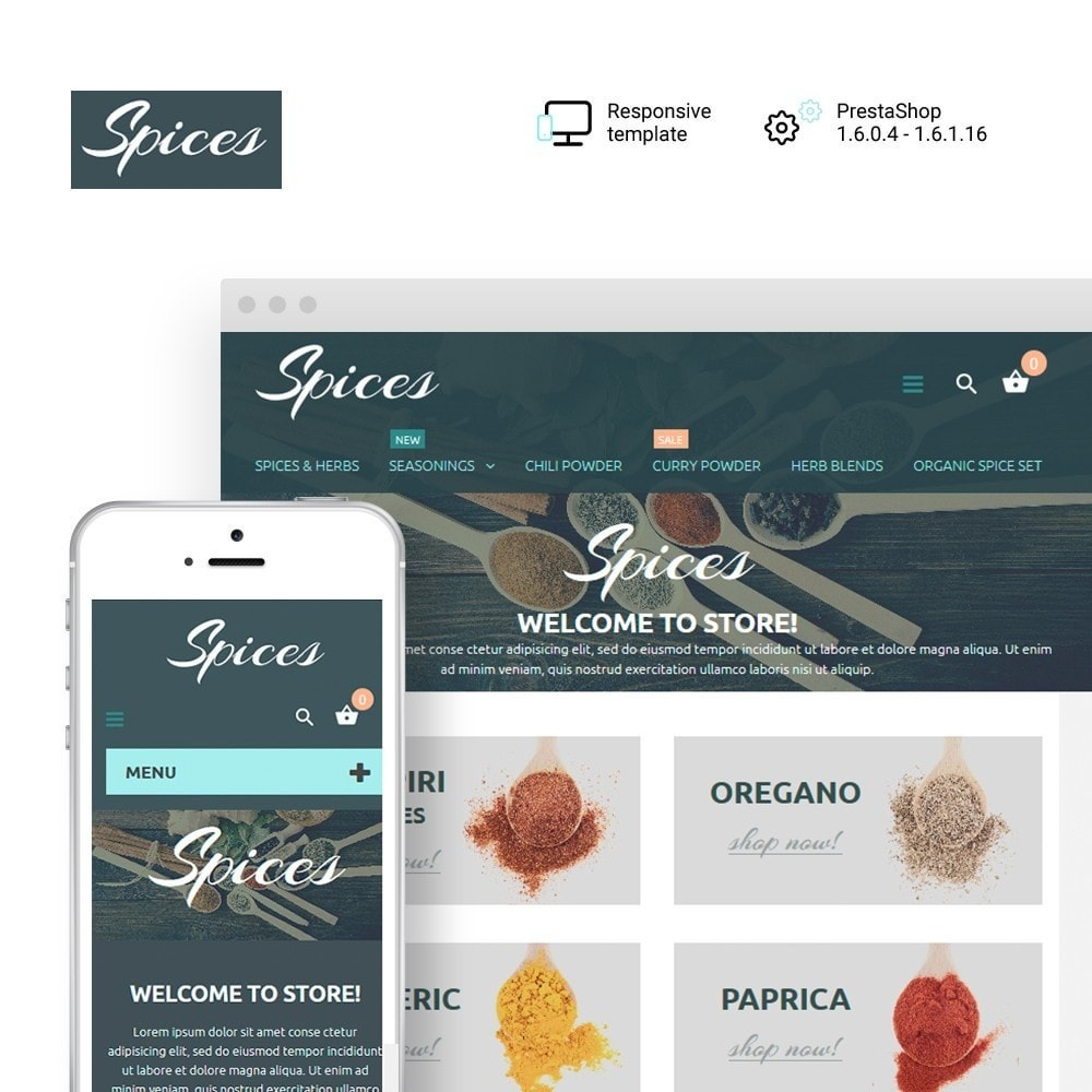 theme - Food & Restaurant - Spice Shop - 1