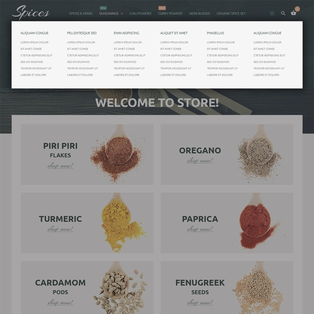 theme - Food & Restaurant - Spice Shop - 5