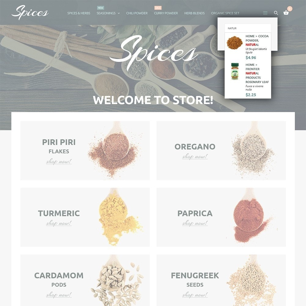 theme - Food & Restaurant - Spice Shop - 6