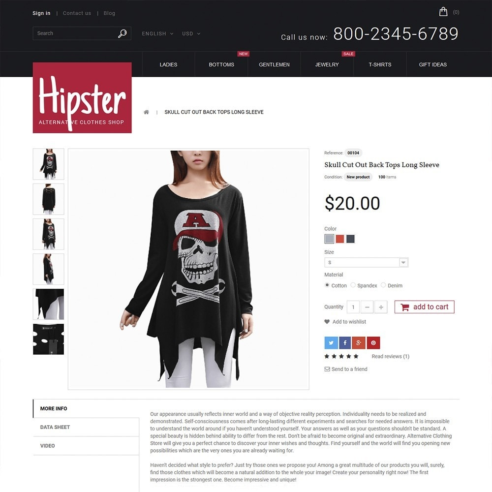 theme - Moda & Obuwie - Hipster - Apparel Template - 3