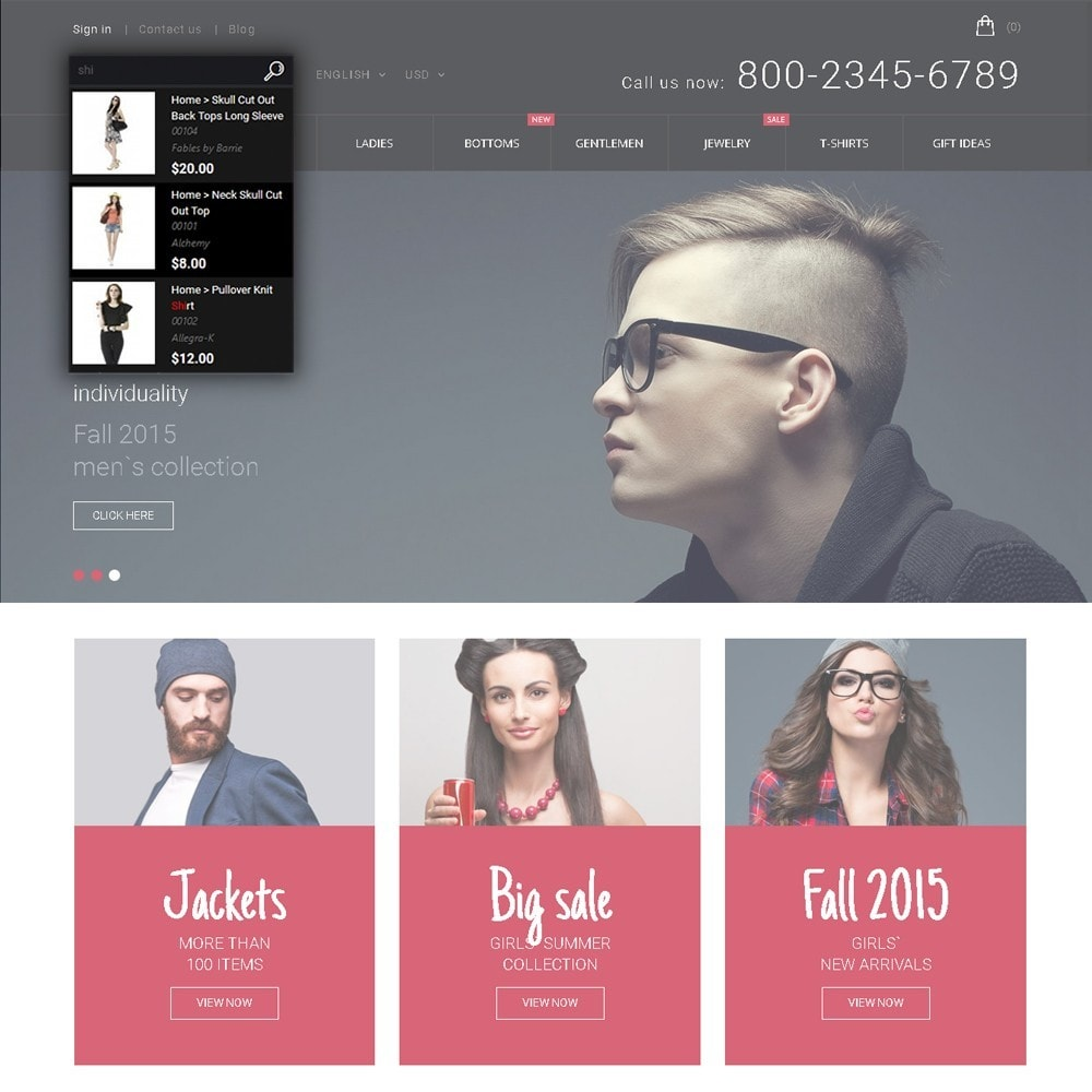 theme - Moda & Obuwie - Hipster - Apparel Template - 6