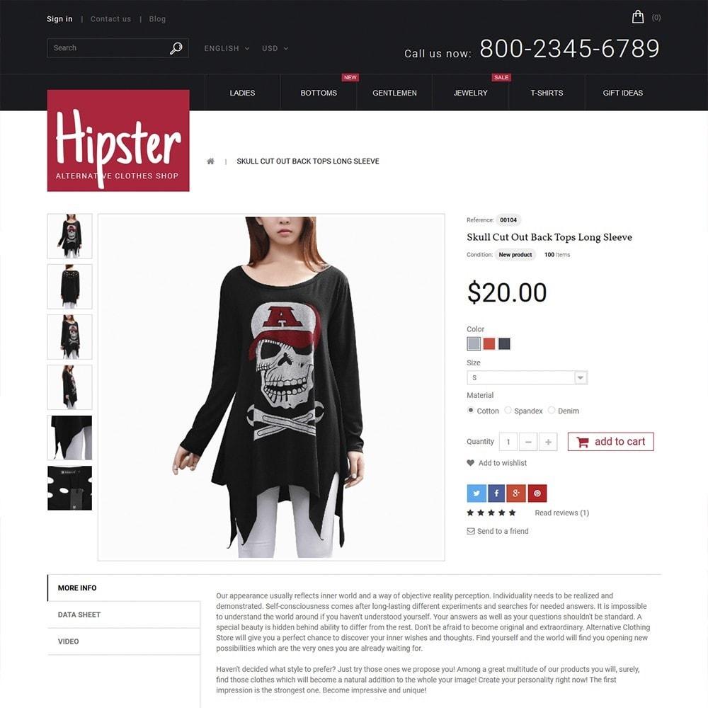 theme - Moda y Calzado - Hipster - Apparel Template - 3