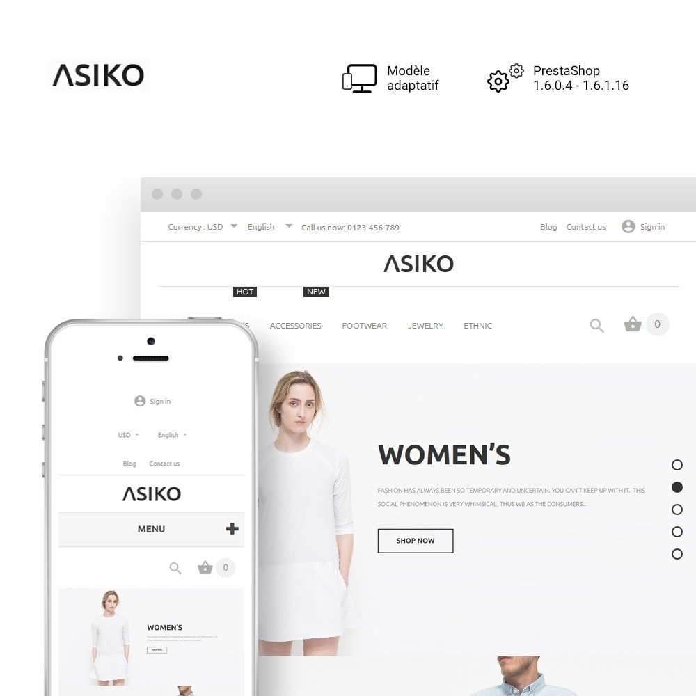 theme - Mode & Chaussures - Asiko - 1