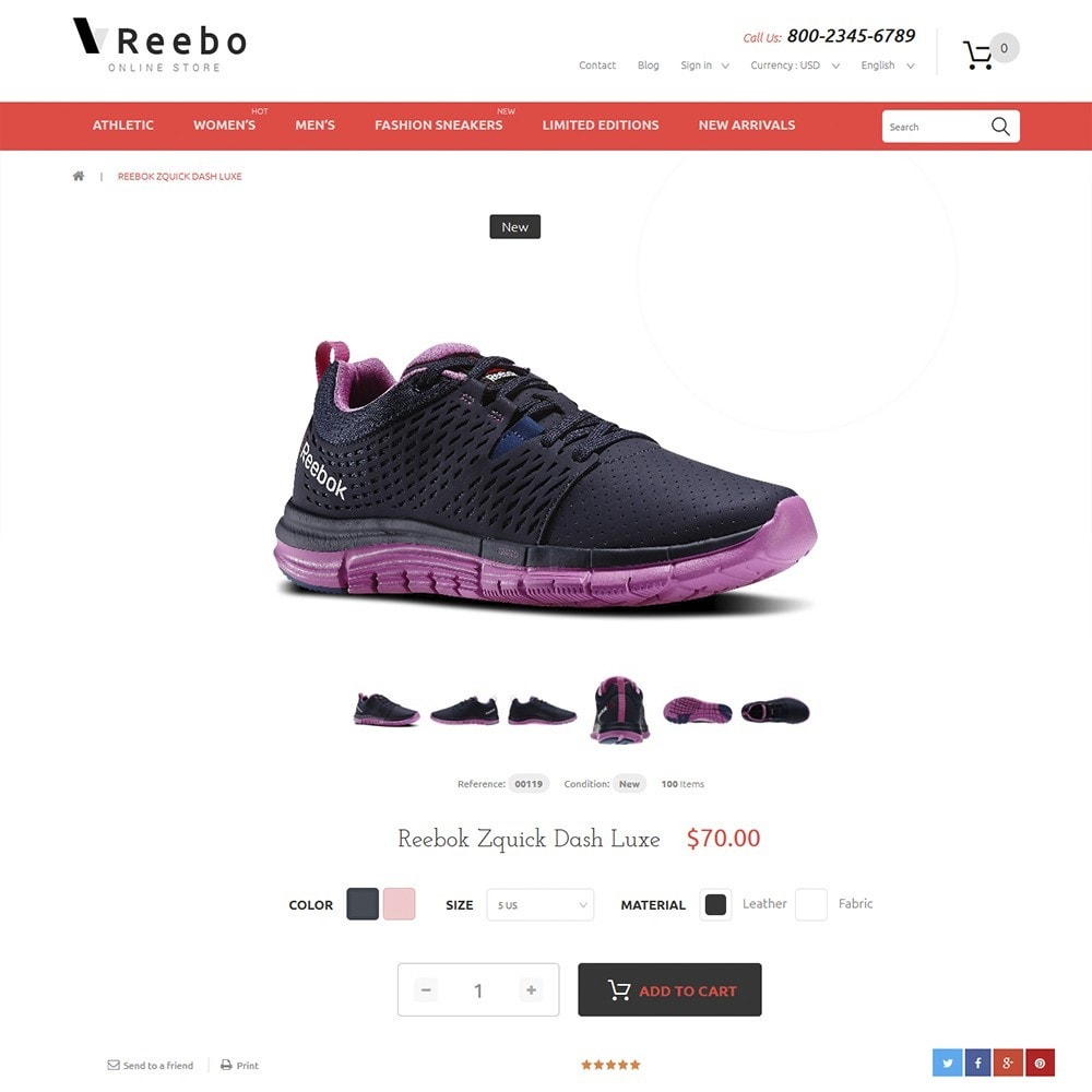 theme - Mode & Chaussures - Reebo - Shoe Store - 3