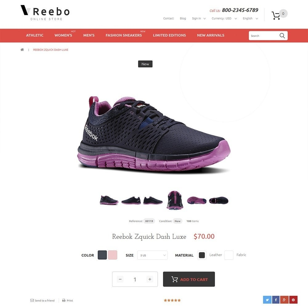 theme - Moda & Calzature - Reebo - Shoe Store - 3