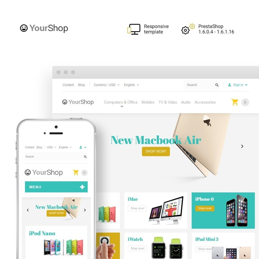 theme - Elektronika & High Tech - YourShop - Electronics Store - 1